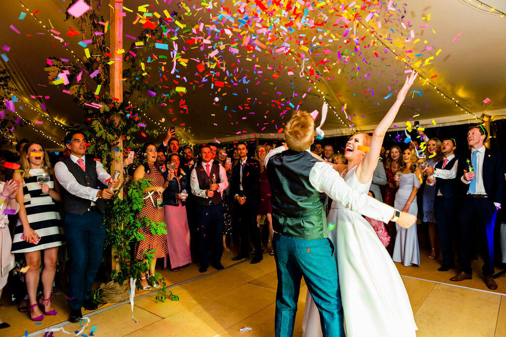 Matt & Dani's first dance in our Celeste Marquee