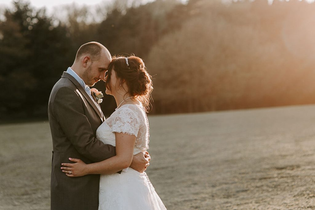 Abi & Dave at Vanstone Park Venue during Golden hour