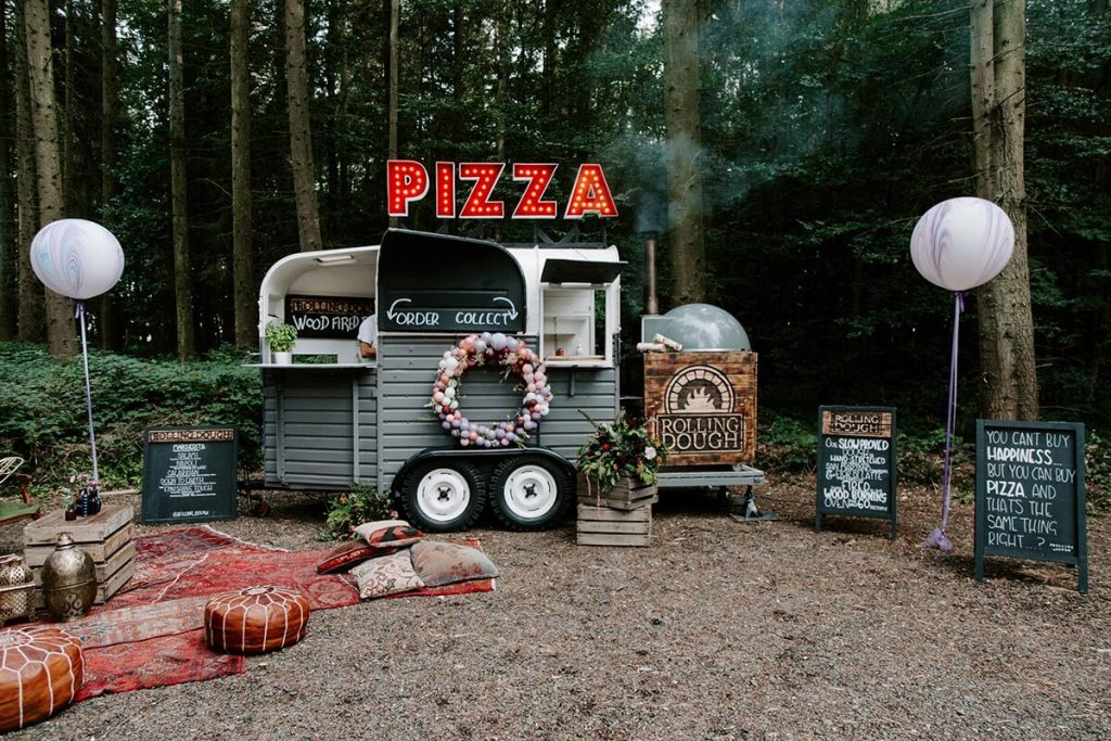 Rolling Dough Pizza Horsebox in the woods