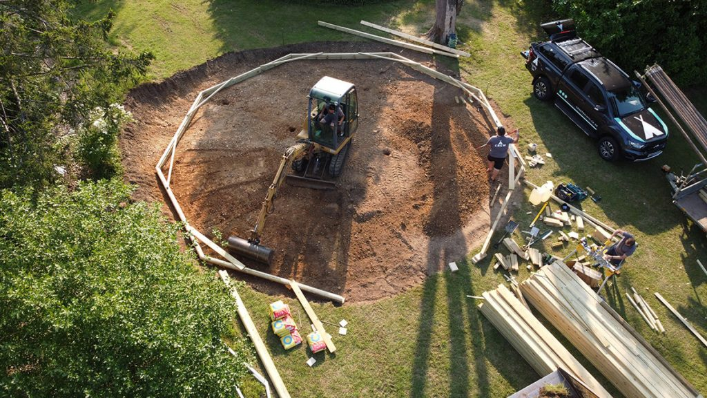 Groundworks for the wooden floor