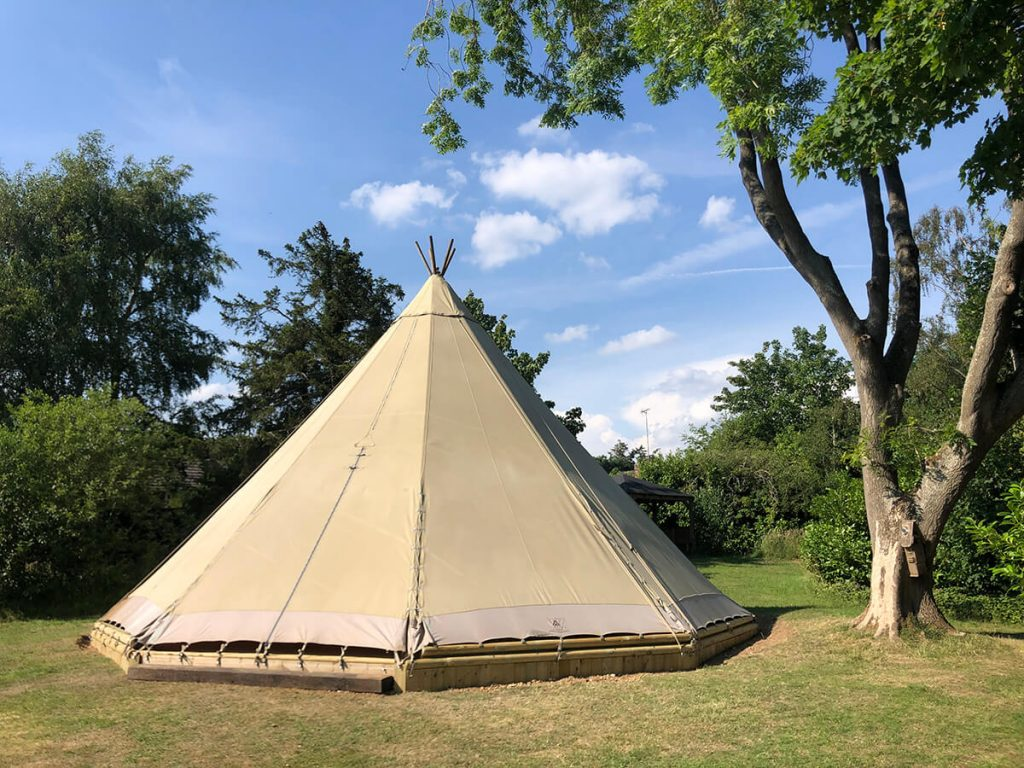 Single Tipi at a school as a classroom forest school