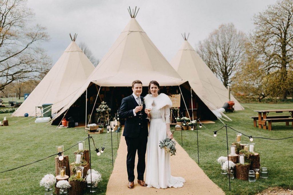 Tipi Wedding at Walkern Hall in April