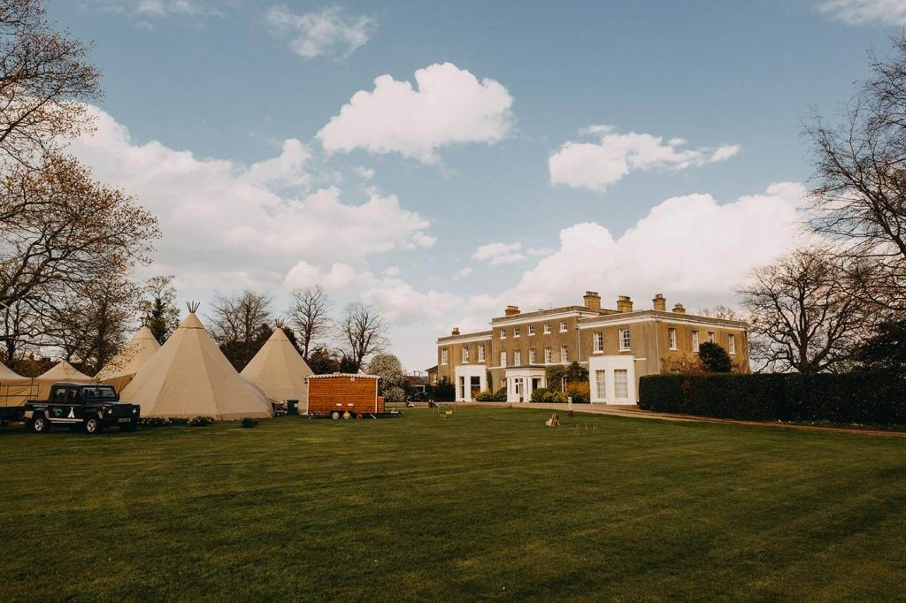 Teepee Wedding at Walkern Hall in April