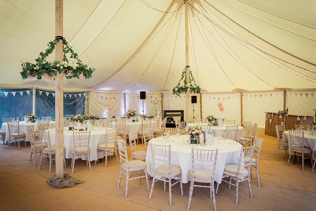Outdoor structure hire for weddings and events